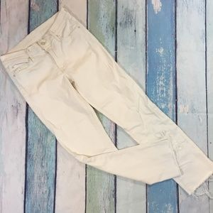 Mother White The Rascal Ankle Snippet Jeans 27
